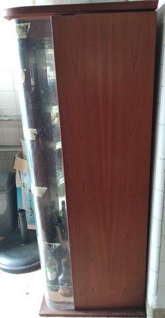 Cristaleira / Garrafeira - em madeira maciça de cerejeira
