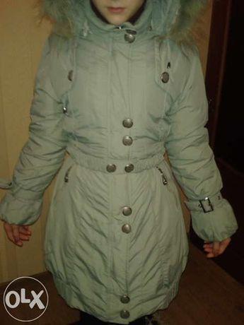 Куртка,Пуховик-пальто на девочку