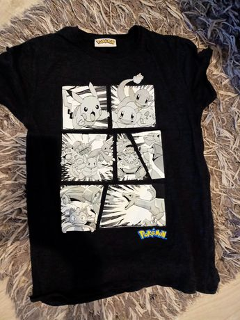 Czarna koszulka Pokemon