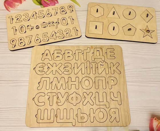 Деревяная азбука, алфавит