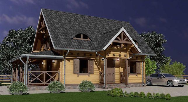 Dom Drewniany Nowy 135 m2