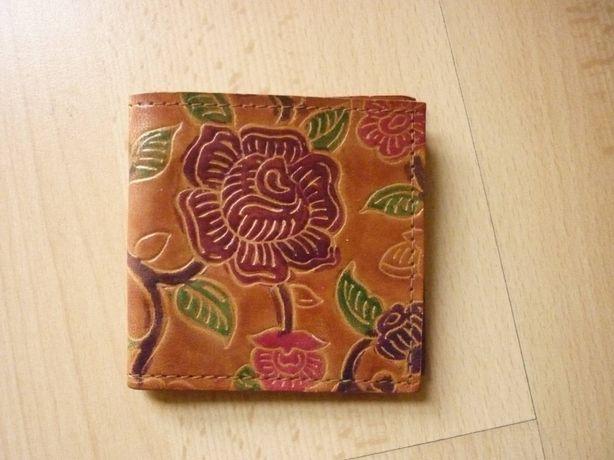 Portmonetka damska portfel kwiaty flores