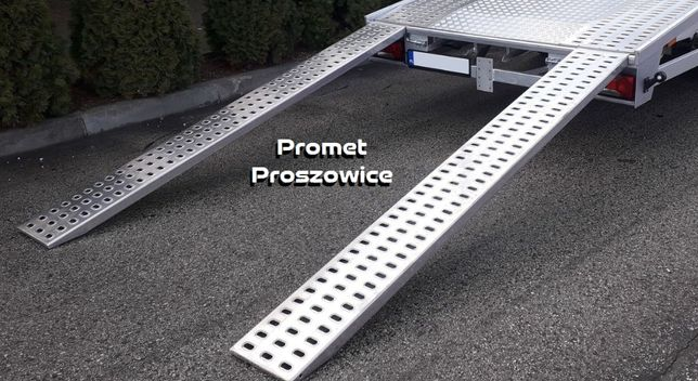 Najazdy ALUMINIOWE 2,5m Podjazdy LOHR 2szt 250cm Trapy Blaszak Laweta