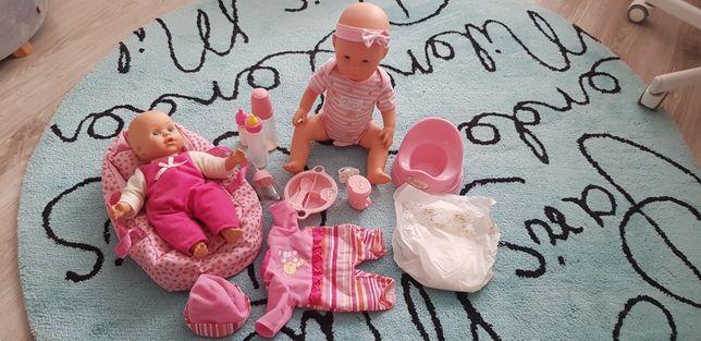 Dwie lalki New born z akcesoriami