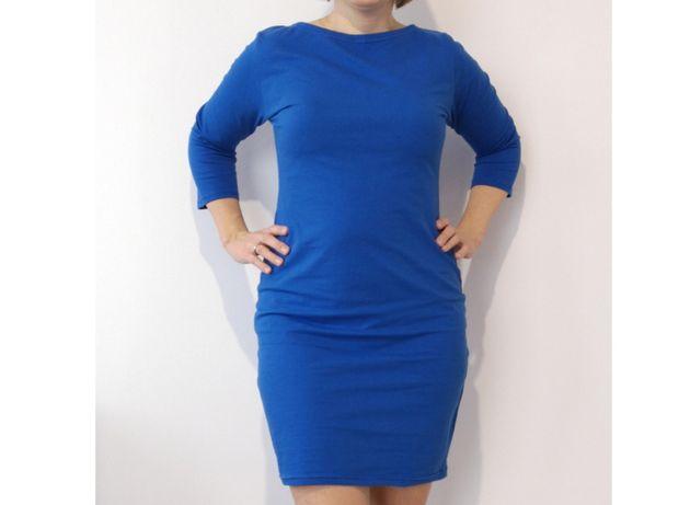 Chabrowa ołówkowa sukienka M