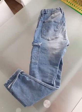H&M spodnie jeans jogger Denim cargo chłopięce 11-12y 146-152
