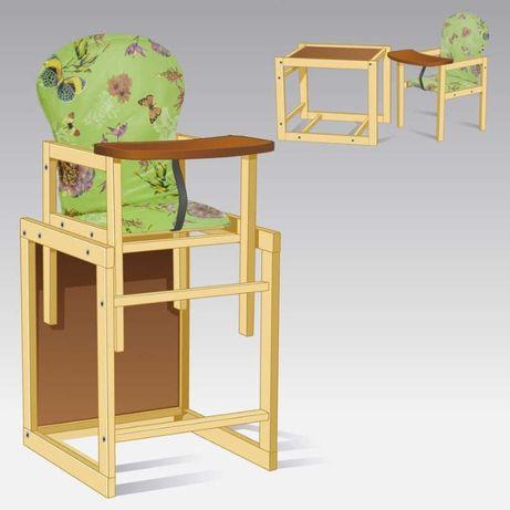Стульчик для кормления малый Бабочки-Салатовый ТМ Мася SKL11-219641