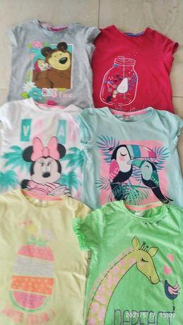 Bluzka bluzeczka koszulka krótki rękaw- zestaw na wiosnę i lato
