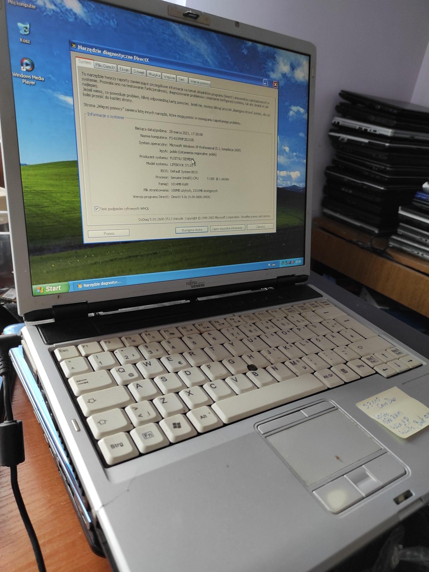 """Fujitsu S7110 Core2Duo 1.66 1gb 40gb 14"""""""