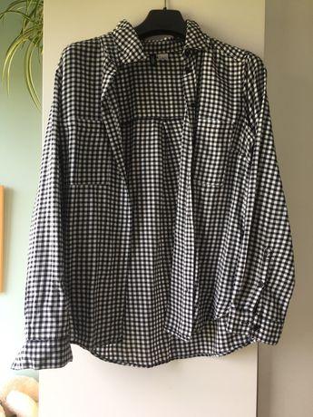 Koszula w kratę H&M 40 czarno-biała