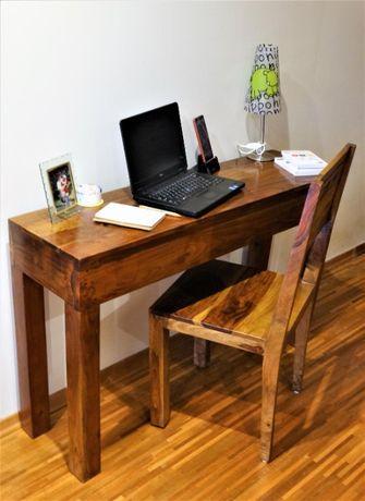 Mała konsola / toaletka / mini biurko + krzesło kolonialne - śliczne!