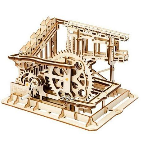 3D пазл Зубчатый подъемник. ROBOTIME конструктор из дерева