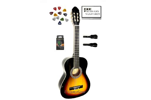 Gitara klasyczna 1/2 PRIMA +STROIK+POKROWIEC+KURS DARMOWA wysyłka