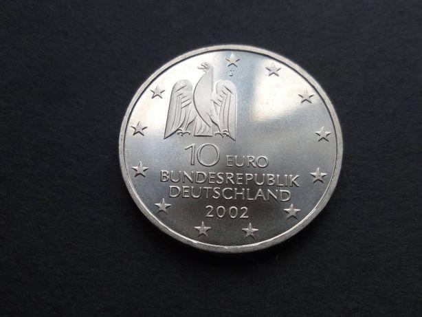 1 moeda 10€ 2002 da Alemanha prata rara e bela