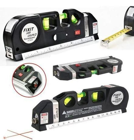 3 в 1 Лазерный уровень с рулеткой FIXIT LASER PRO 3 нивелир
