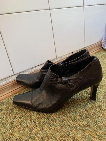 Винтажные туфли из нат. кожи, р. 38