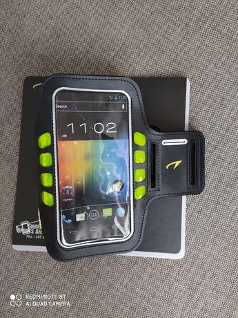 Opaska etui do biegania smartfon ramię LED AVENTO