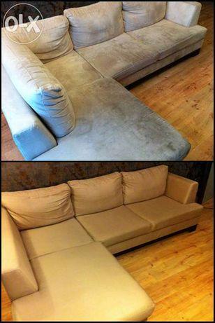Czyszczenie Pranie dywanów tapicerki narożnika rogówki kanapy mebli