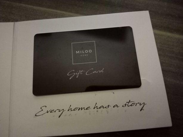 Karta podarunkowa Miloo Home o wartości 2 000,00 zł, okazja, prezent.