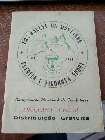 Programa oficial - 12° rallye da montanha - Maio 1963
