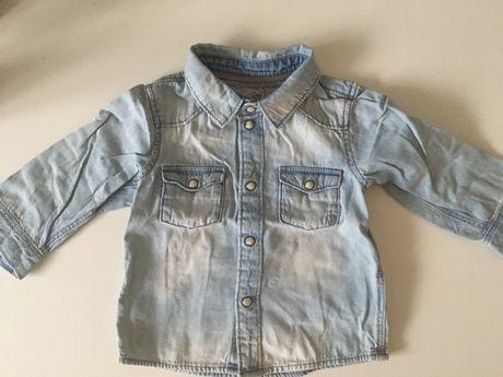 Jeansowa koszula H&M rozmiar 68