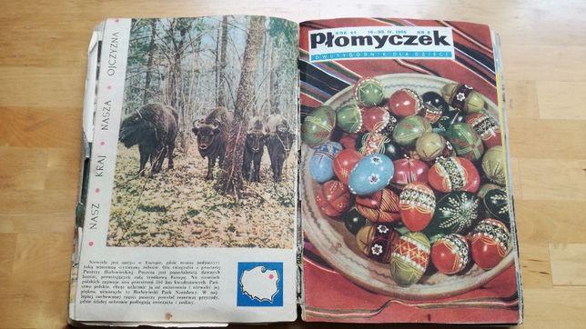 Płomyczek dwutygodnik dla dzieci rocznik 1965 - zbiór wielu numerów