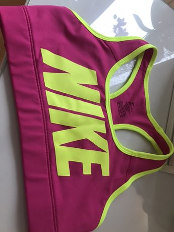 Top sportowy Nike neon różowy XS idealny stan