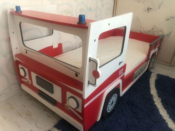 Кровать детская пожарная машина