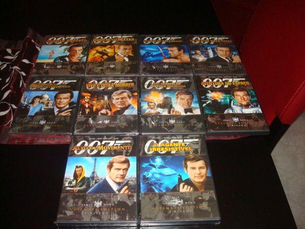 lote 12 dvds 007 ultimate edition de 1 e 2 dvds alguns selados