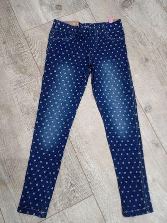 Spodnie legginsy r 128 NOWE