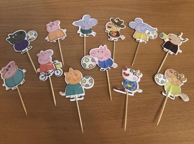 Топперы на день рождения с мультфильма «Свинка Пеппа»(Peppa Pig)
