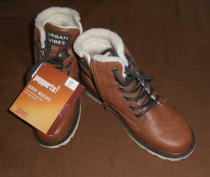 Nowe Buty zimowe młodzieżowe dziecięce ocieplane 37