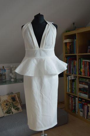 midi biała sukienka ASOS
