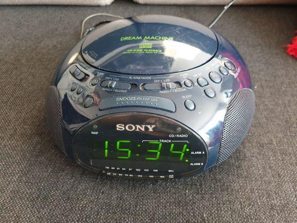 Radio budzik z cd Sony