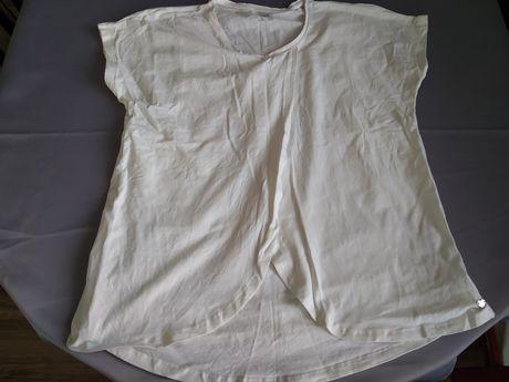 Bluzka ciążowa krótki rękaw biała kremowa