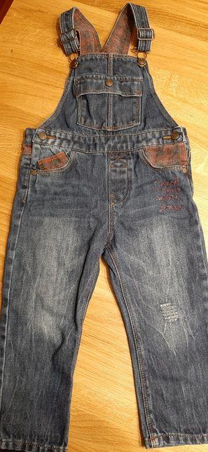 Spodnie na szelkach jeansy