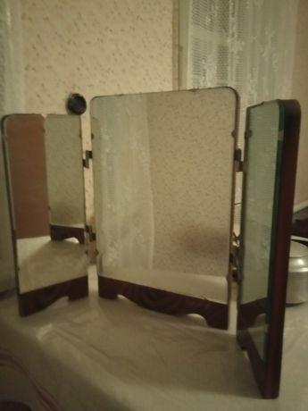 Зеркало  настольное трильяж