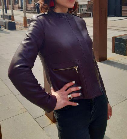 Куртка кожаная Massimo Dutti, S  размер
