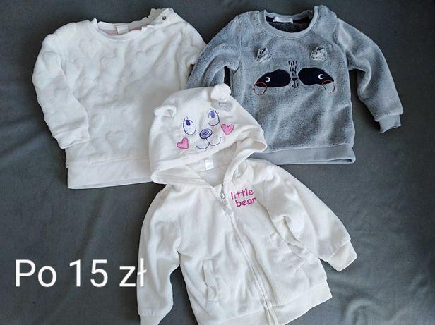Bluzy polarowe dla dziewczynki roz 74, 80