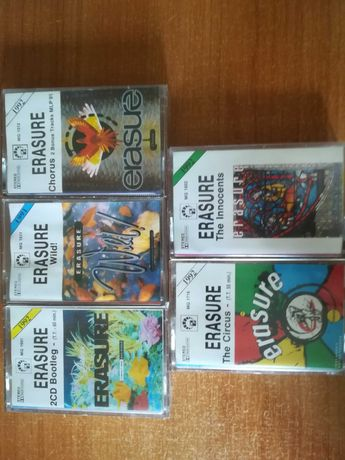 kasety magnetofonowe Erasure zestaw lub na sztuki