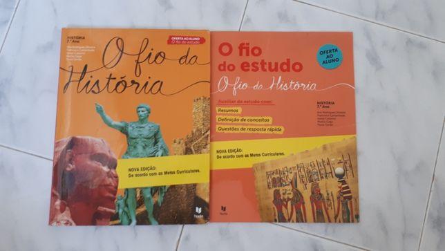 Manual de História mais um livro de auxílio de estudo de 7ºano