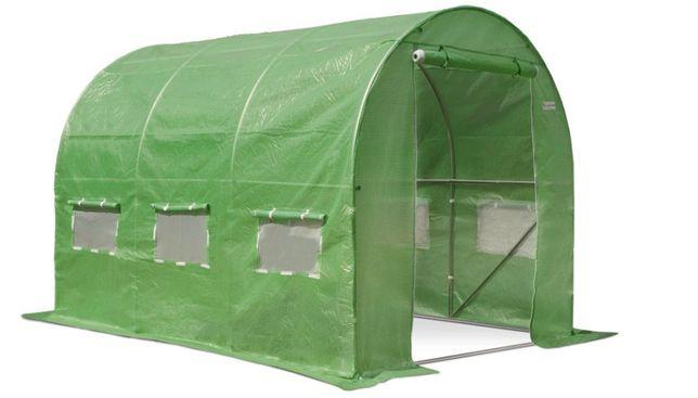 Szklarnia ogrodowa - tunel foliowy zielony i biały Garden premium