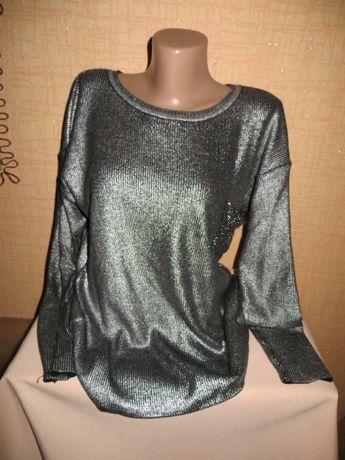 Модный серебряный свитер женский ,BUTELLA.Производство Турция.
