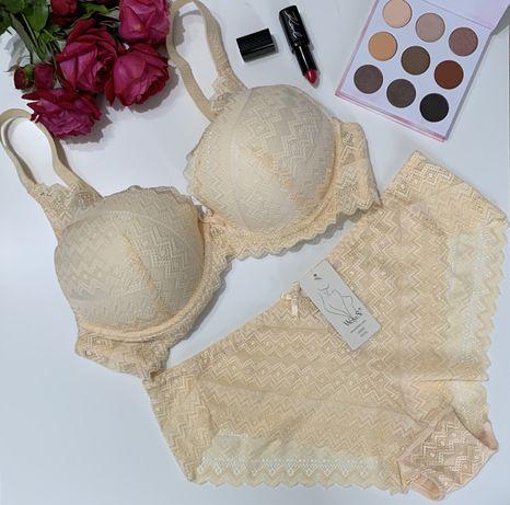 Женский комплект белья, нижнее белье, кружевное белье, комплект білизн