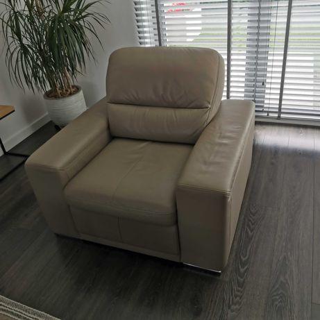 Gala Bono collezione fotel + sofa skóra beż