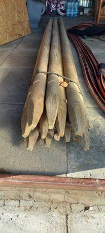 Słupki, Bale okrągłe ostrzone długość 250x5,5 cm