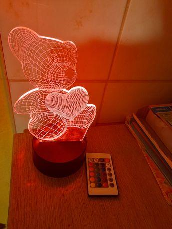 Lampka 3d mis  led