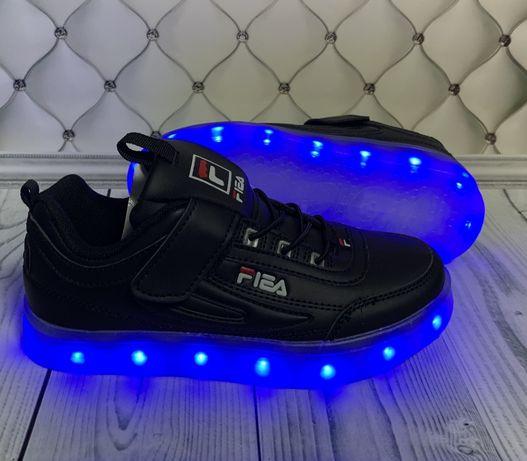 LED кроссовки, светящиеся кроссовки р.26-37