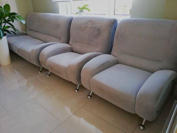 Sofa tapczan kanapa fotel zestaw komplet wypoczynkowy