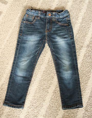 Spodnie jeansowe zara, slim fit, skinny fit , rozmiar 104
